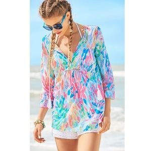 Lilly Pulitzer Tilda Tunic Multi Sparkling Sands